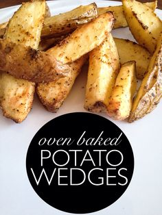 Healthy DIY french fries- oven baked potato wedges! Eating clean, healthy side dish