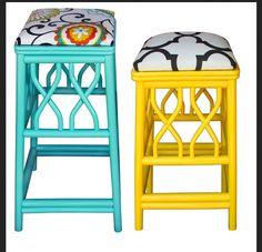 colorful bar stools