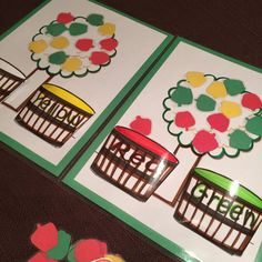 Apple Bushel Color Match File Folder Game