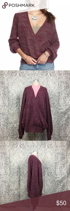 Free People Karina Wrap Sweater NWOT! A slouchy Free People wrap sweater in a cozy loose knit. Ribbed edges and long peasant sleeves. Perfect to wear with your favorite pair of jeans.   Fabric: Loose knit. 41% acrylic/15% nylon/15% polyester/13% wool/7% mohair/5% alpaca/4% viscose.  Laying Flat Measurements are:  Chest- 28 in Waist- 26 in Hips- 23 in Overall Length-30  in Free People Sweaters V-Necks