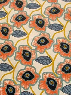 cool pattern for textiles Textile Prints, Textile Patterns, Textile Design, Fabric Design, Lino Prints, Block Prints, Paper Design, Pretty Patterns, Beautiful Patterns