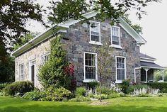 fieldstone farmhouse Stone Masonry, Charming House, Dream House Exterior, Stone Houses, Historical Architecture, Home Design Plans, My House, New Homes, Farmhouse