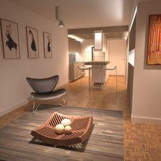 Cocina integrada en remodelación de apartamento en Santa Fé - rra arquitectura