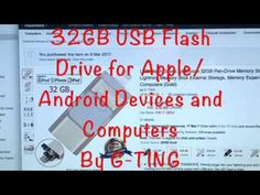 USB Flash Drives for iPhone 32GB Pen-Drive Memory Storage, G-TING Jump Drive Lightning Memory Stick External Storage, Memory Expansion for Apple IOS Android ...