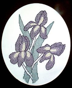 Irises Blackwork Kit by X-Calibre Designs