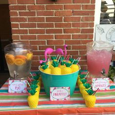 Flamingos and Pinapples! Birthday Party Ideas | Photo 20 of 23