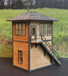 Model Train Wooden Signal Tower