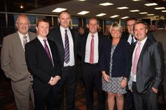 The team at Wall James Chappell with Stuart Lancaster