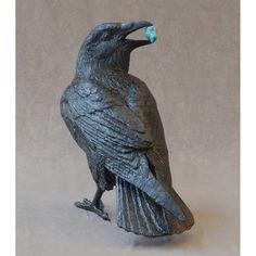 Jim Eppler, Artist at Trove Gallery Crow Art, Raven Art, Bird Art, Bird Sculpture, Animal Sculptures, Sculpture Garden, Ceramic Animals, Ceramic Birds, Clay Birds