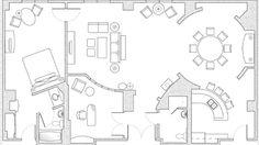 World's Nicest Resort Floor Plans | Hospitality Parlor Suites Floor Plan