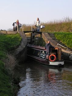Canal Boat and Lock.. I'd love to go on one of these canal barge vacations.