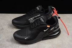 92ce2ea7ac35ef Off-White x Nike Air Max 270 Black White Men s and Women s Running Shoes
