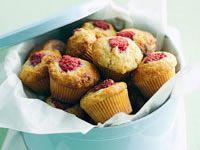 Raspberry and banana mini muffins