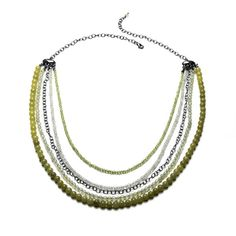 Modern rustic bib necklace   Eles Designs