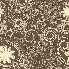 Tarjetería y fondos de flores en marrón y beige rústico.