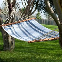Simplicity equals serenity, and you'll get your serene on with this hammock.