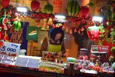 During my walk in the night market of Myeongdong, Seoul, there is this lady guarding her store of luscious, big strawberry dipped in chocolate.