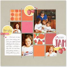 This juicy scrapbooking layout was made with the National Scrapbooking Month Taste of Summer paper packet!