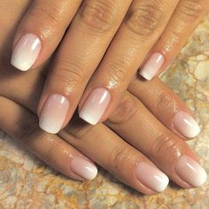 Elegant Bridal Nails - Enchanting Ideas for Your DIY Wedding .- Elegant bridal nails – Enchanting ideas for your DIY wedding manicure On your big day, of course, you want to be even more beautiful and radiant than usual - Elegant Bridal Nails, Bridal Nails French, Simple Bridal Nails, Bridal Nail Art, Nailed It, French Manicure Designs, Nails Design, French Manicure Ombre, American Manicure Nails