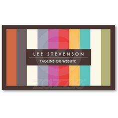 Fun Colorful Multi Stripes  Business Card