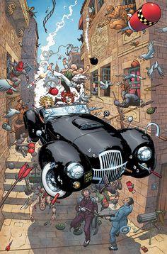 "comicblah: ""Birds of Prey #125 cover by Frank Quitely #DCWomen """