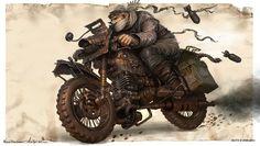 Warlord Biker, Michal Kus on ArtStation at http://www.artstation.com/artwork/warlord-biker