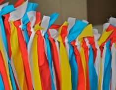 Red/Blue/Yellow, Circus, Carnival, or Boys Theme Birthday Party Backdrop Banner Party Decoration on Etsy, $65.00
