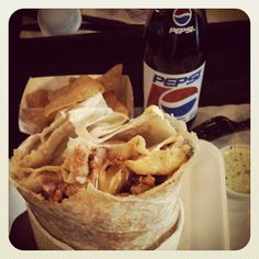 Feeling like poop but this kind of helps. #foodporn #California #burrito #LuchaLibre #SanDiego