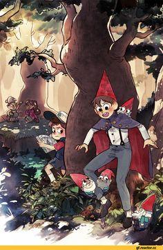Gravity Falls,фэндомы,Dipper Pines,GF Персонажи,Mabel Pines,Over The Garden Wall,GF art