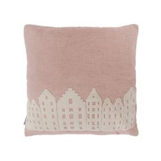 Pillow size: 45*45 cm Pimp up your interior with the V@Amsterdam pillow cover and you will support a good cause. Color: soft-pinkfront, vanilla houses and vanilla back