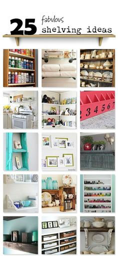 25 DIY Storage and Organization Shelving Ideas