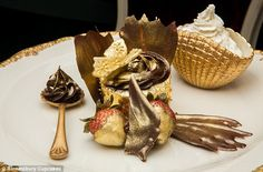 Golden: The world's most expensive cupcake contains a staggering 23 carats of edible gold