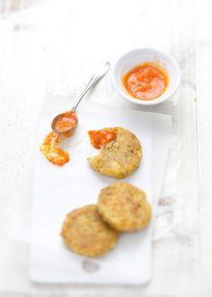 Moroccan potato cakes   & tomato chutney