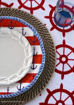 Anchors Aweigh and Nautical Fun    homeiswheretheboatis.net #boat #dishes