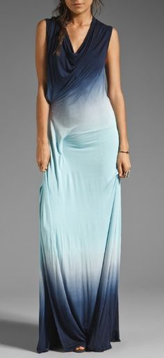 Seaside ombe maxi dress