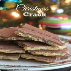 Christmas Crack Cookie Bites , Directions: Preheat oven to 400 degrees.  Line cookie sheet with aluminum foil, and spray generously with cooking spray.  Cover cookie sheet with one layer of saltine crackers. Bring butter and brown sugar to a boil, stirring continuously for 2 to 3 minutes.  Remove from heat, add one teaspoon pure vanilla extract. Pour mixture over crackers, then bake for 6 minutes.  Remove from oven, pour a bag of milk chocolate chips on top of crackers.  Allow to soften for ...