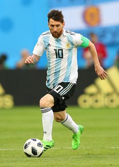 Lionel Messi of Argentina in action during the 2018 FIFA World Cup Russia group D match between Nigeria and Argentina at Saint Petersburg Stadium on June 2018 in Saint Petersburg, Russia. Argentina Fc, Argentina National Team, Antonella Roccuzzo, Fc Barcelona, Petersburg Russia, Saint Petersburg, Argentina Football Team, God Of Football, Messi Vs