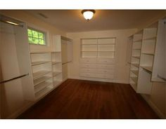 master closet....not quite that big, but with a similar lay-out.