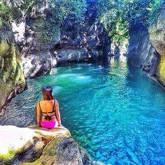 Quitinday Falls And Underground River, Jovellar, Albay  beautiful photo by @amieleima
