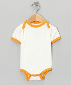 $8.99 This Natural & Apricot Organic Bodysuit - Infant is perfect! #zulilyfinds