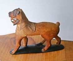 Vintage Sabre Tooth Cat Folk Art, Wild Cat Wood Carving, Primitive Carving Primitive Antiques, Vintage Tools, Country Of Origin, Wood Carving, Folk Art, Tooth, Lion Sculpture, Statue, Cats