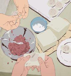 "itadakimasu-anime: "" Folding wonton! Ping Pong The Animation, Episode 6 """