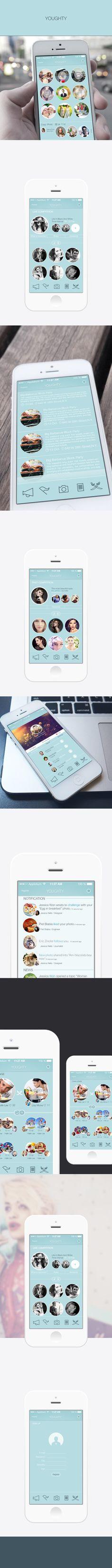 Yougthy App Concept I by enes kırdemir, via Behance
