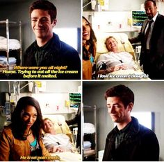 The Flash #1x07 #Season1 - Barry, Iris and Eddie. Love barrys humor