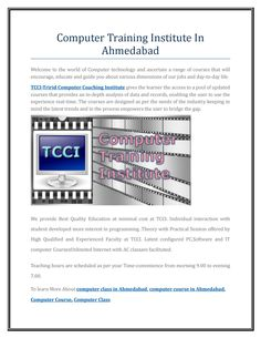 Computer training institute in ahmedabad