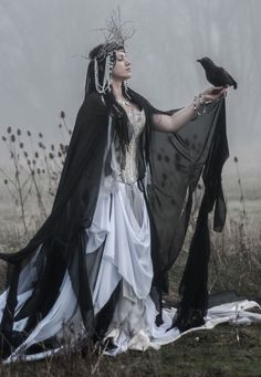 "Lady M - ""The raven himself is hoarse That croaks the fatal entrance of Duncan Under my battlements........"""