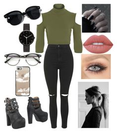 """Untitled #52"" by paigeo3 on Polyvore featuring Topshop, Jeffrey Campbell, Lime Crime, Oliver Peoples, I Love Ugly and Casetify"