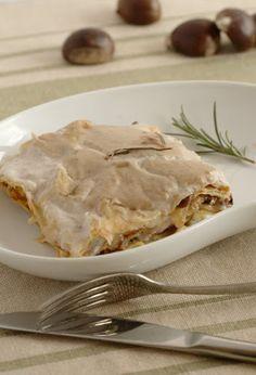 Lasagne con castagne, chiodini e rosmarino Via Colazione da Jo