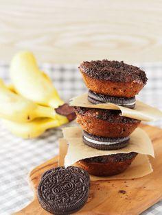 Oreo-Bananen-Muffins
