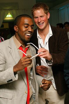 Kanye West and Prince Harry